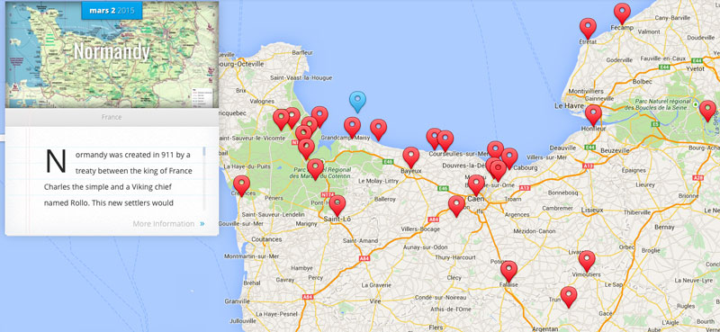 Home - ddayguidedtours D Day Map on
